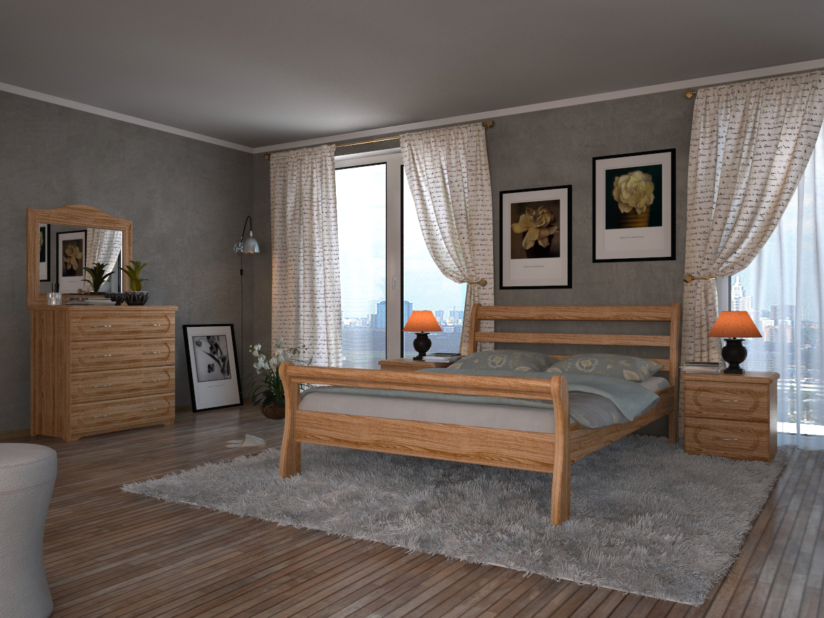 Кровать DreamLine Милан (Бук) Кровать Милан (Бук) фото