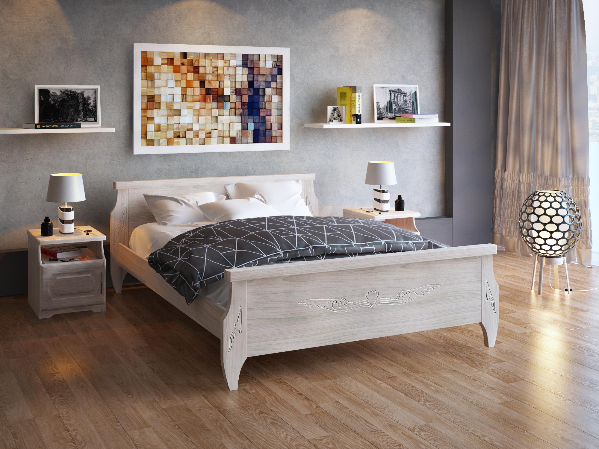 Кровать DreamLine Ника (Ясень) Кровать Ника (Ясень) фото