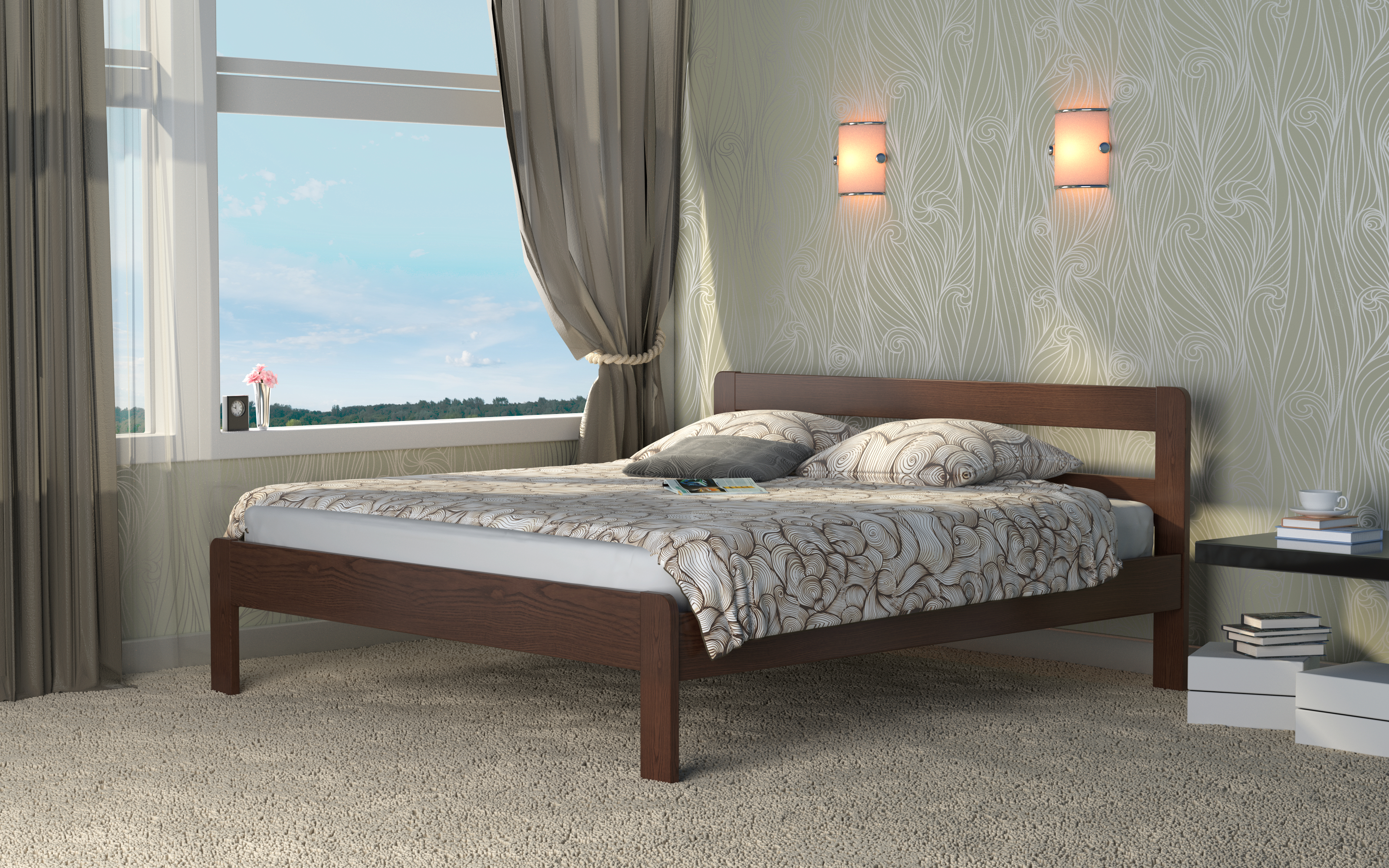 Кровать DreamLine Кредо 1 (Ясень) Кровать Кредо 1 (Ясень) фото