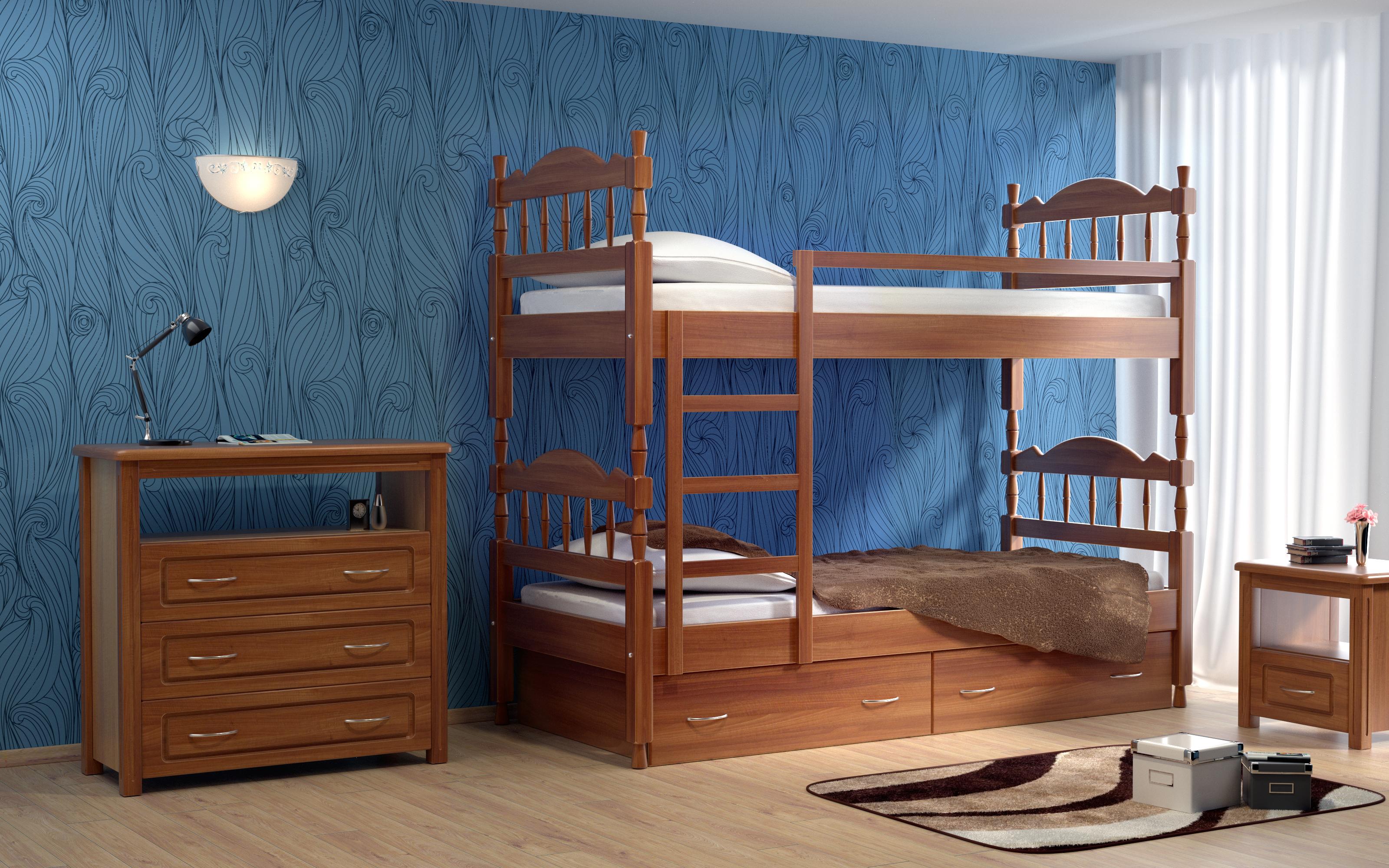 Кровать детская DreamLine Юниор 2-х ярусная (Ясень) Кровать детская Юниор 2-х ярусная (Ясень) фото
